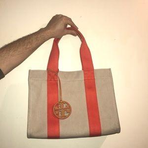 Tory Burch canvas beach bag